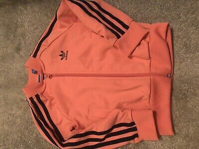 girls adidas tracksuit Pink Navy Stripes Age 3/4