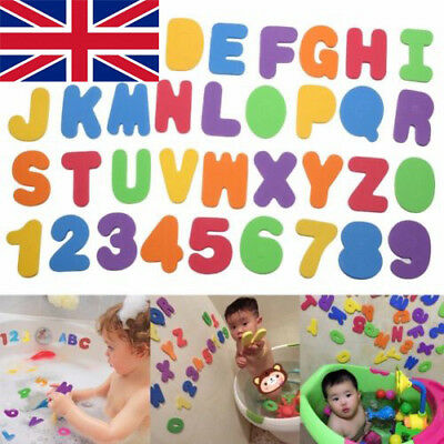 Kids Foam Number 24Letter Baby Bath Toddler Tub Floating Early Education Toy UK