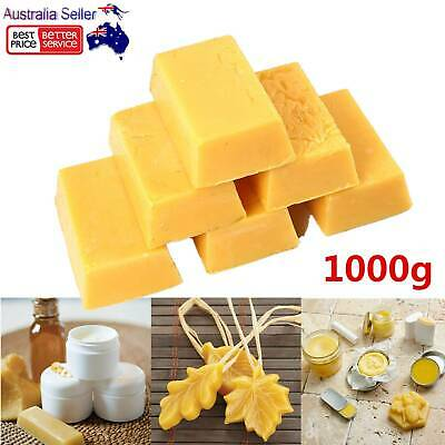 1000g Organic Pure Beeswax Natural Blocks Unrefined Skin Candle Wax DIY Projects