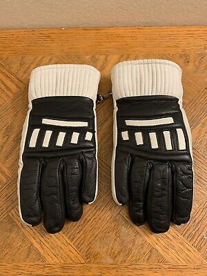 Vtg Aris Ski Gloves Made In Japan Soften Leather Warm Ladies Size Large