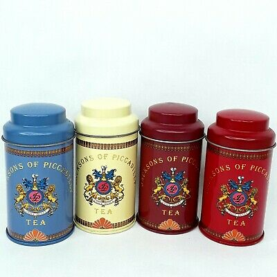 Jacksons of Piccadilly tea tin canisters Small Bulk