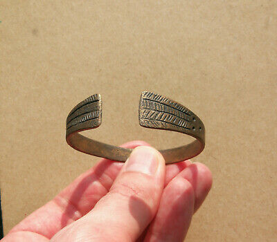Ancient Scythian bronze bracelet tracery with rare ornament. REALLY RARE TYPE