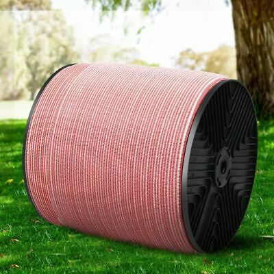 Red and White Polytape for Electric Fence Energiser Livestock Fencing 1200M/Roll