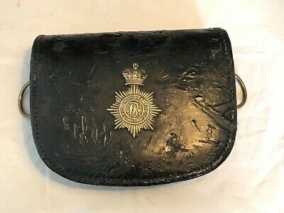 Victorian Patent Leather Pouch Of The Middlesex Yeomanry  Re-Enactment/ Collect