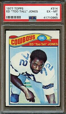 "1977 Topps #314 Ed ""Too Tall"" Jones PSA 6 Ex - MINT. Dallas Cowboys.Hall of Fame"