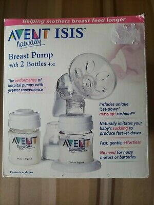 Avent Naturally ISIS Manual Breast Pump - Only The Pump Bottles Not Included