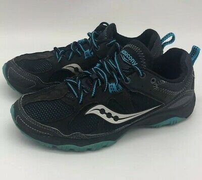 Saucony 15148-1 Adapt Trail Running shoes womens size 8 black and blue