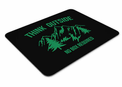 Think Outside No Box Required Funny Mousemat Office Rectangle Mouse Mat Funny