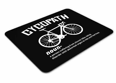 Cycopath Noun Cycling Mousemat Office Rectangle Mouse Mat Funny