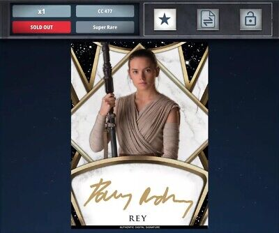 Topps Star Wars Card Trader TOPPS Finest Prime Signature REY/DAISY RIDLEY 477cc