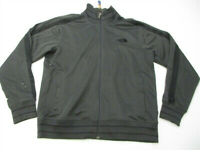THE NORTH FACE Track Jacket Men's Size L Lightweight Zip-UP Thin Charcoal Gray