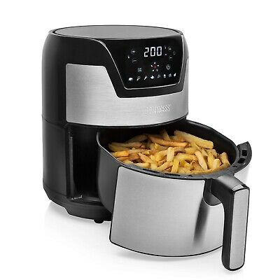 Princess Friteuse Digitale Aerofryer XXL, 182026, 4,5L Habillage en Acier Inox