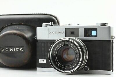 【EXC+4】 Konica Auto S2 35mm Rangefinder Film Camera 45mm f/1.8 From JAPAN #341