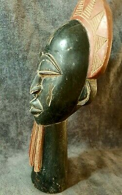 Vintage A special handmade  African Native Statue Wood Figure Hand Carved   1172