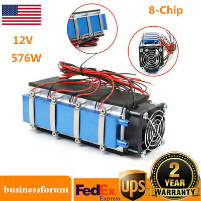576W 8-Chip TEC1-12706 DIY Thermoelectric Peltier Cooler Air Cooling Device USA