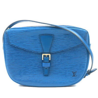 Authentic Louis Vuitton Epi Jeune Fille Shoulder Toledo Blue M52155 Used F/S