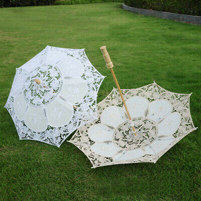 Lady Lace Parasol Umbrella For Wedding Bridal Party Decor Gifts Vintage Handmade