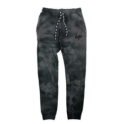 Hype Acid Wash Kids Jogging Bottoms - Black - Kids Medium
