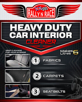 Heavy Duty Car Interior Cleaner - Clean Fabrics Carpets Seatbelts - Makes 6L