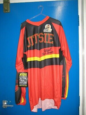 Jitsie Eddy Trials Bike Riding Jersey/Shirt. Red.great Quality *Clearance*