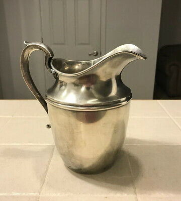 "Gorham Silverplated Water Pitcher 5 3/8 Pint YC614 Pitcher 9"" tall"