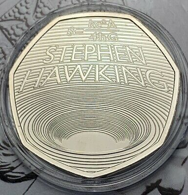 2019 STEVEN HAWKING 50p Fifty Pence Coin Brilliant Uncirculated BU