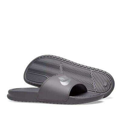 Nike Men's Benassi JDI Slippers Slide Sandals 343880 020 - Grey