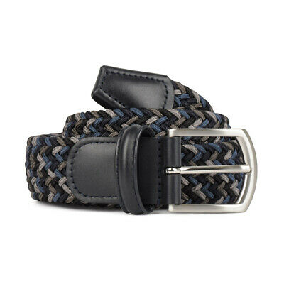 New Andersons Woven Textile Belt Black, Grey and Blue