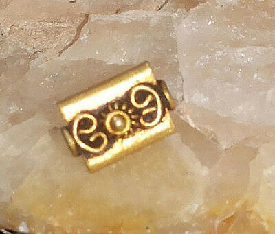 Genuine Ancient Roman Solid Old Gold 22k Roman Flower Center Handmcrafted Bead