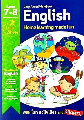 English, Age 7-8, KS2, Activities, Stickers, Home Learning Made Fun, New
