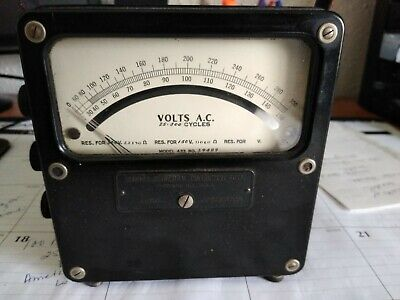 )Vintage Weston Electrical Instrument Corp VOLTS D.C. Meter 0-150 Volts meter