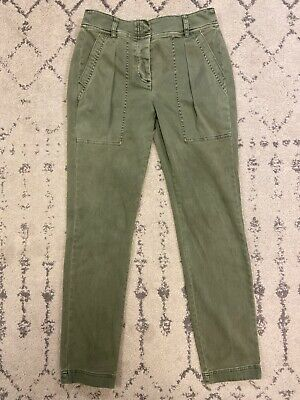 J. Crew Skinny High Rise Stretch Cargo Pants In Pesto Green! 4 x 27