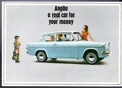 Ford Anglia 105E 1965-67 UK Market Foldout Sales Brochure Super De Luxe Estate