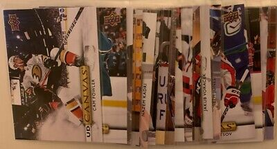 2019-20 Upper Deck Series 2 Canvas (See List) Complete Your Set