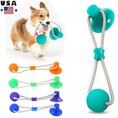 Suction Pet Dog Ball Chew Toys Cup Dog Chew Mega Tug Interactive Teeth Cleaning
