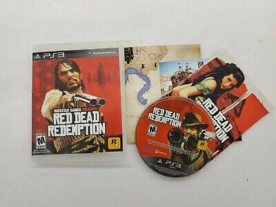 Red Dead Redemption (Sony PS3, 2010) - Free Fast Shipping Complete with Map