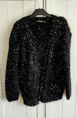 George Black & Silver Sequin Cardigan  6-7 Years
