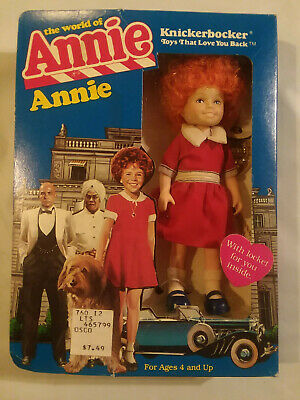 """New 1982 Knickerbocker The World Of Annie 6"""" Little Orphan doll #3856 in box"""