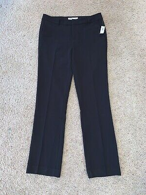 NWT New Women's Old Navy Black Casual Dress Pants Size 10 Tall Harper