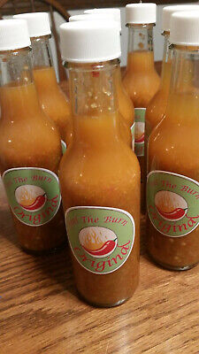 Feel The Burn Hot Sauce. Contains Reapers, Ghost, Thai, Scorpion & Habaneros