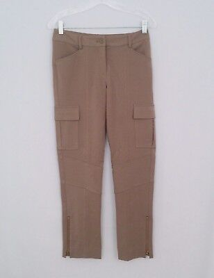 NWT $98 Cache OLIVE Cargo Crop Pants With Ankle Zippers Women's Size.0 - NICE!!