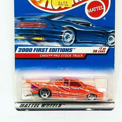 0910 2000 HOT WHEELS /'/'FIRST EDITIONS/'/' #067 = CHEVY PRO STOCK TRUCK = ORANGE