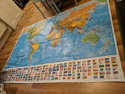 Extra Large World Map poster 140cm x 200cm Heavy Duty