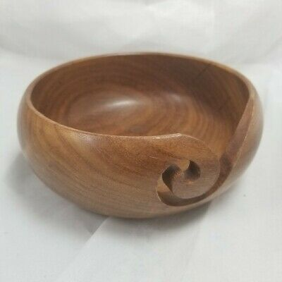 """Wooden Hand Carved Bowl Ash Tray 6"""""""