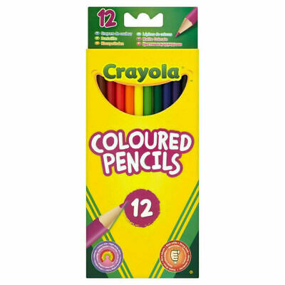 Crayola 12 Full Length Colour Pencils - FAST & FREE DELIVERY.