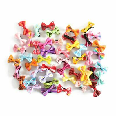 2X(Hairpin Baby Boutique Hair Bows With Clips for Girls Baby 50Pcs R7U8)