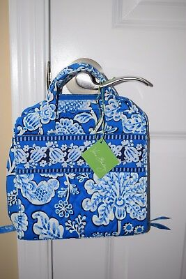 Vera Bradley BLUE LAGOON Mini Hanging Sewing Case TECH ORGANIZER Tablet Case NWT