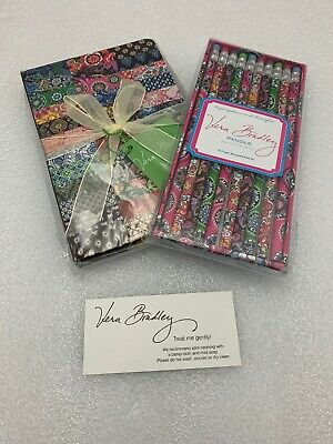 Vera Bradley Journal Diary PATCHWORK 100th Anniversary Edition & Pencils NEW