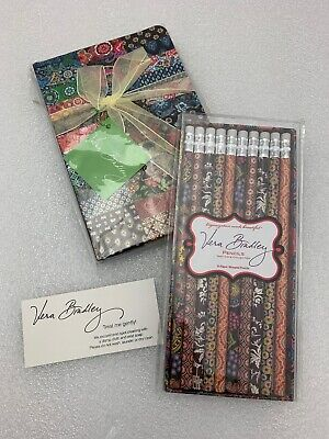 Vera Bradley Journal Diary PATCHWORK 100th Anniversary Edition & Pencils NEW #3