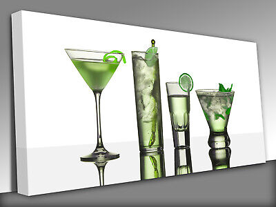 Assorted Cocktail Drinks Made With Vodka Canvas Wall Art prints high quality